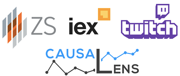 ZS, iex, twitch, causaLens are joining for matchmaking